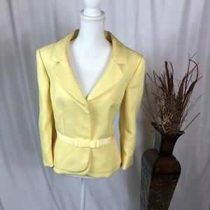 TAHARI Author Levine Yellow Blazer